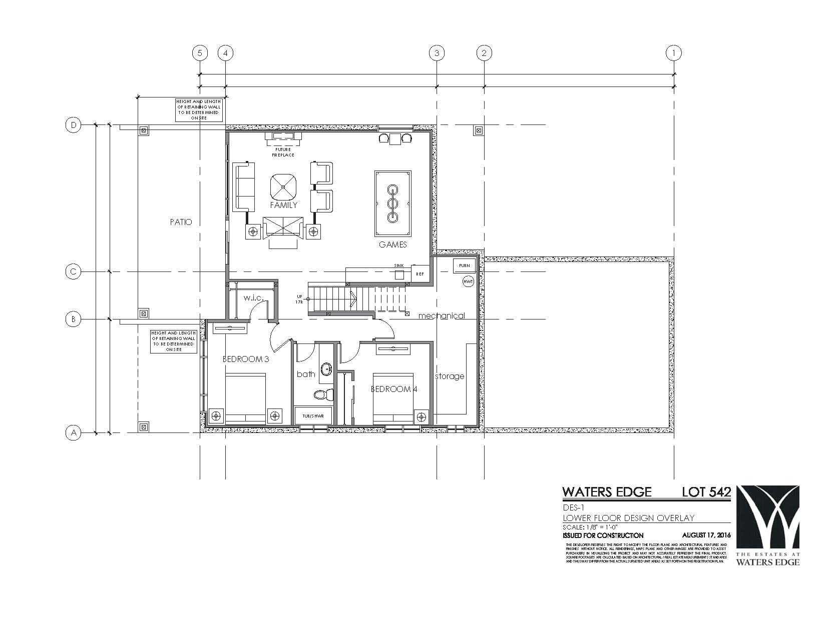 542 lower floor plan the estates at waters edge for Edge house design
