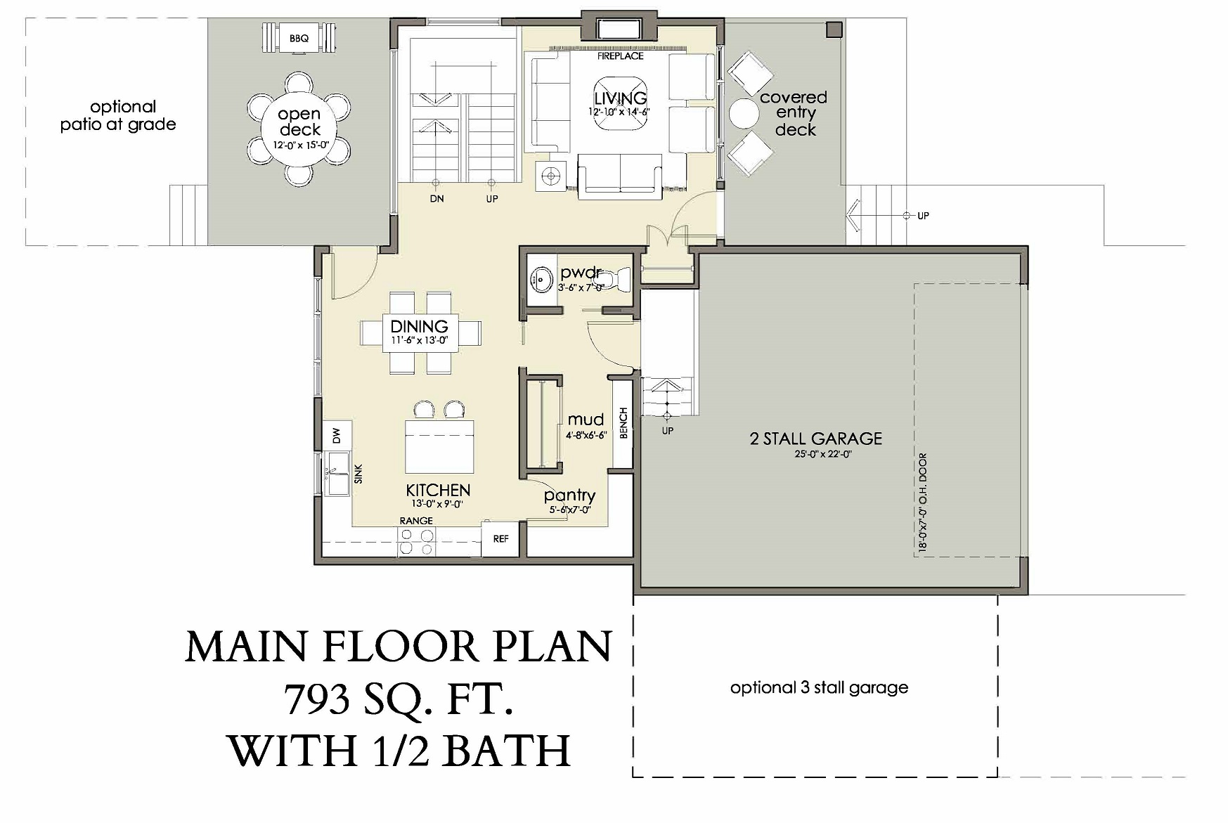 Main Floor | 793 sq ft