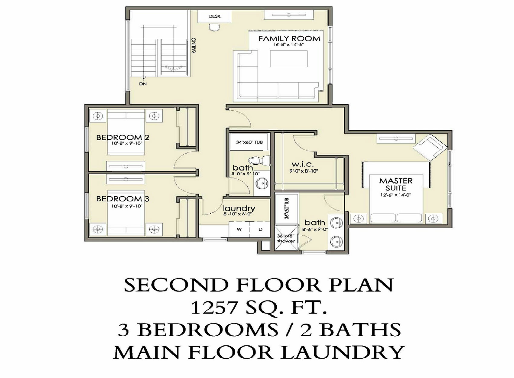 Second Floor | 1257 sq ft