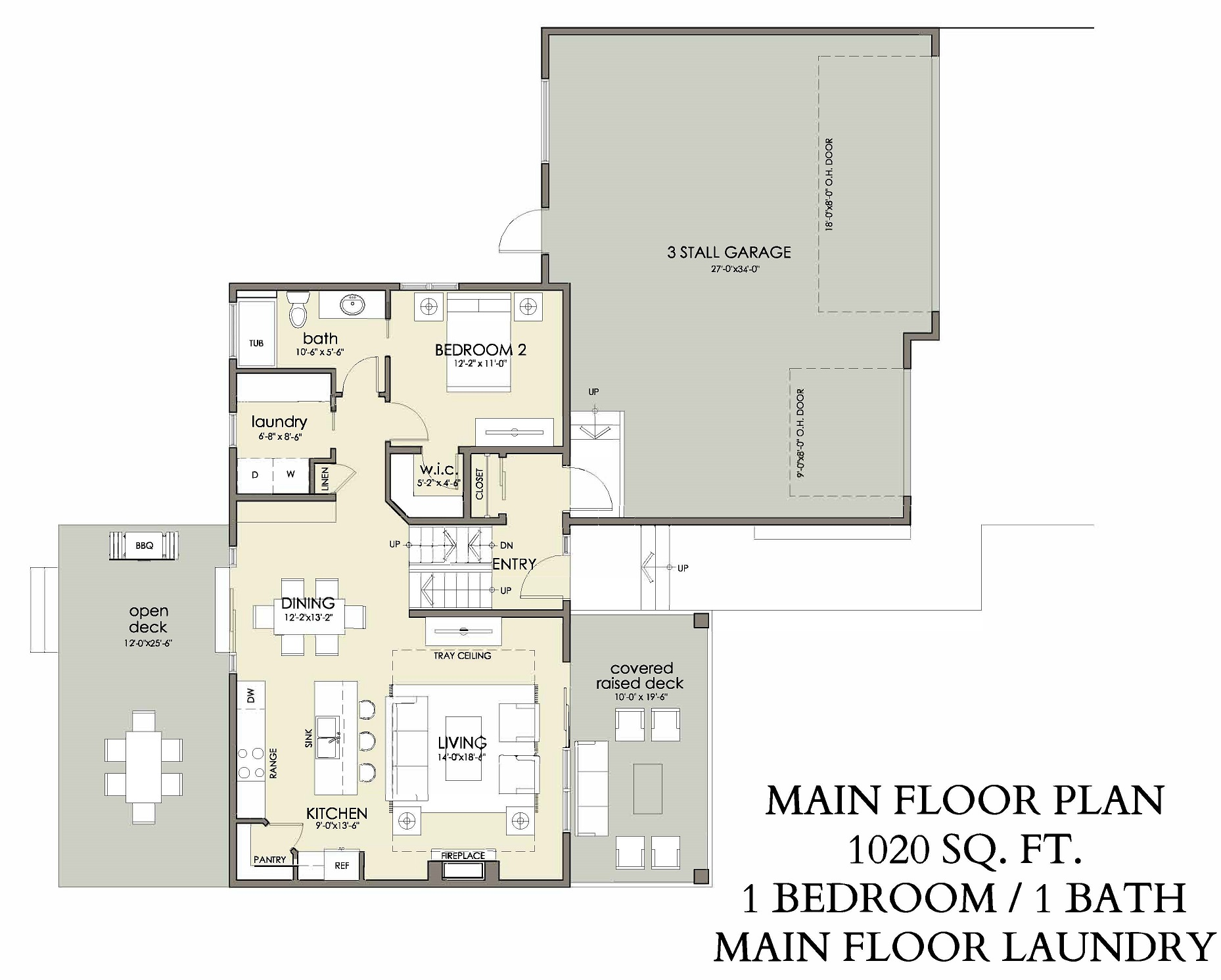 Main Floor | 1020 sq ft