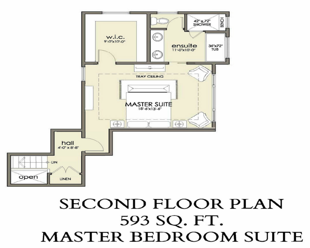 Second Floor | 593 sq ft
