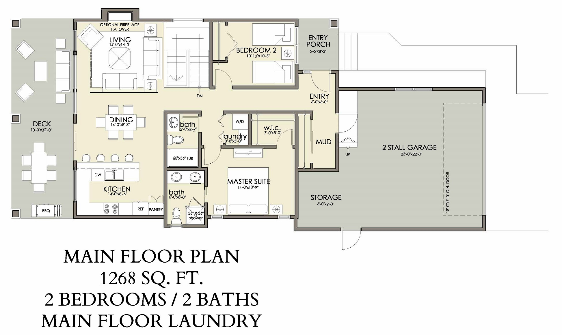 Main Floor   1268 sq ft