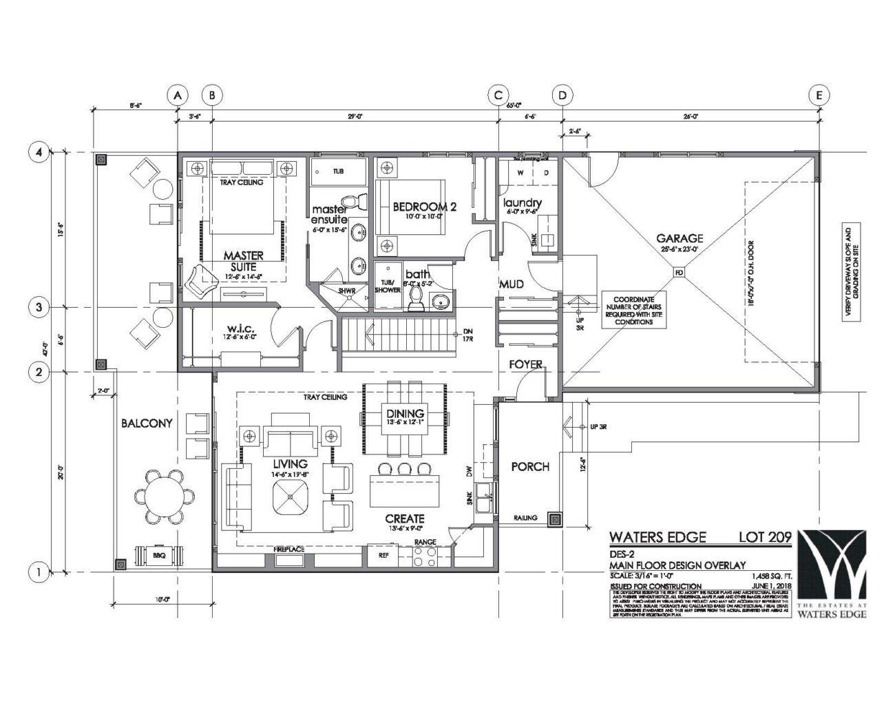 Main Floor   1458 sq ft
